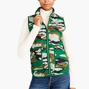 J. Crew quilted puffer camo vest
